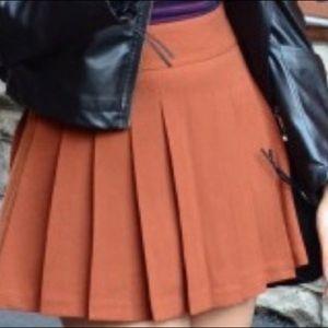 Forever 21 Burnt Orange Pleated Skirt
